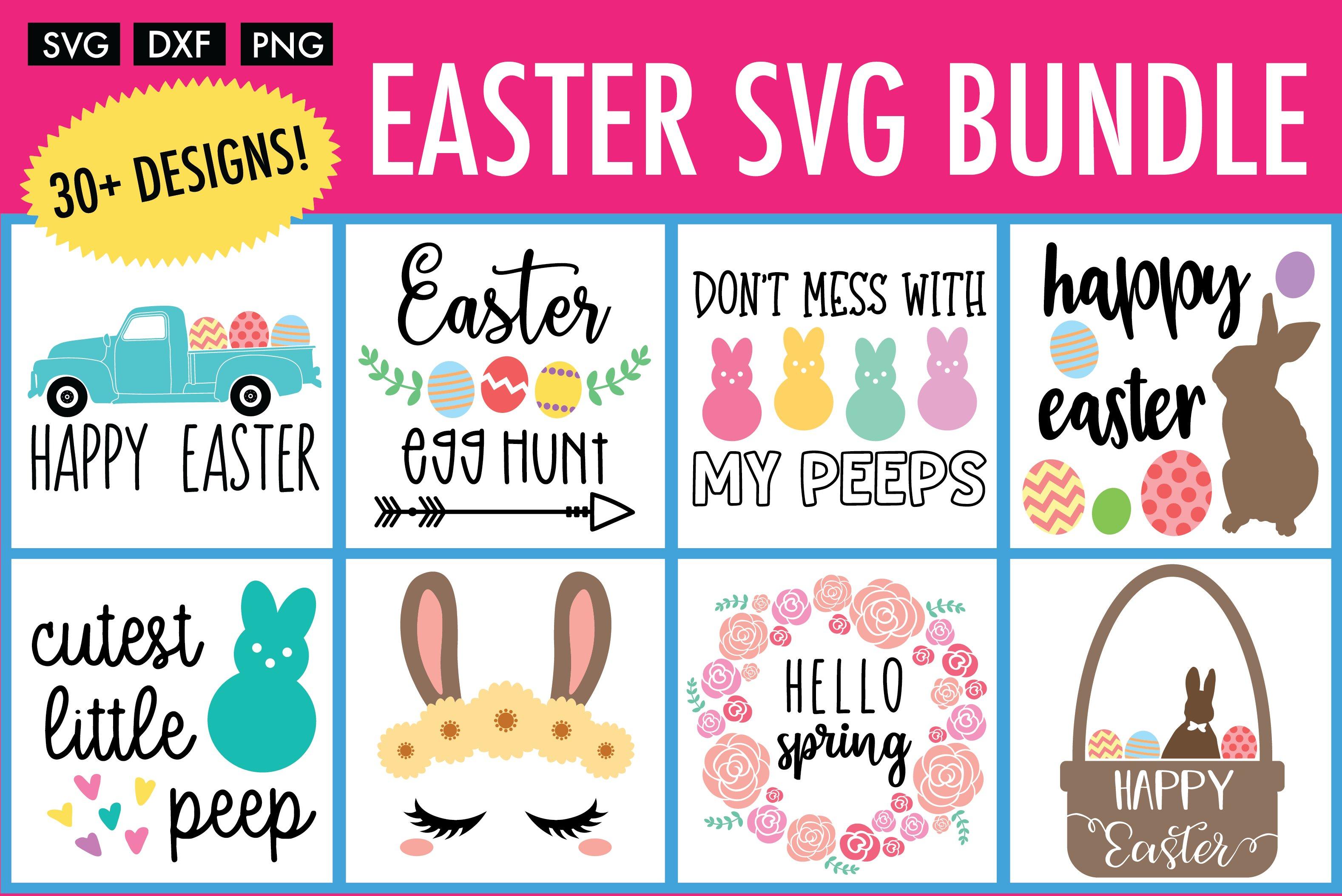 Easter Svg Bundle 32 Designs Pre Designed Photoshop Graphics Creative Market