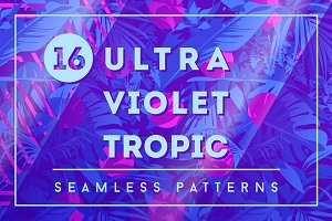 16 Ultraviolet Tropic Patterns