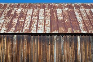 Rusty tin roof