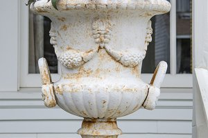 Classic weathered planter