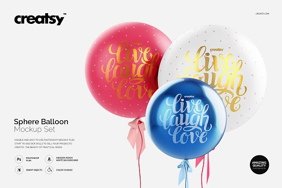 Sphere Balloon Mockup Set