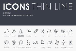 Вarbecue thinline icons