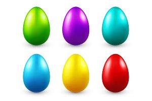 Easter eggs colored set. Spring. Holidays in April. Gift. Seasonal celebration.Egg hunt. Sunday.