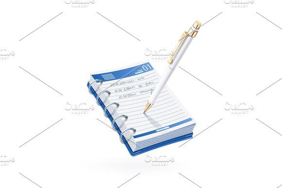 Ball Pen Write In Notebook