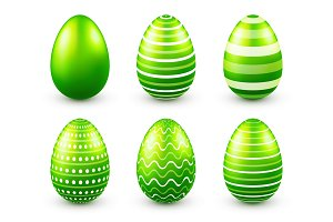 Easter eggs green set. Spring. Holidays in April. Gift. Seasonal celebration.Egg hunt. Sunday.