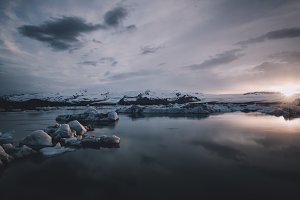 Morning Sunset over Glacier Lagoon