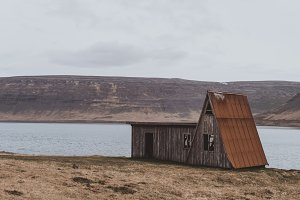 Abandoned Hut in Icelandic Fjord