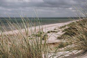 Dune Landscape with Dark Clouds
