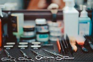 Hairdresser tools.