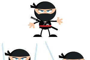 Flat Design Ninja Collection - 1