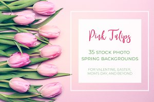 Spring tulips collection
