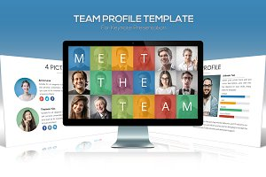 Team Profile Template for Keynote