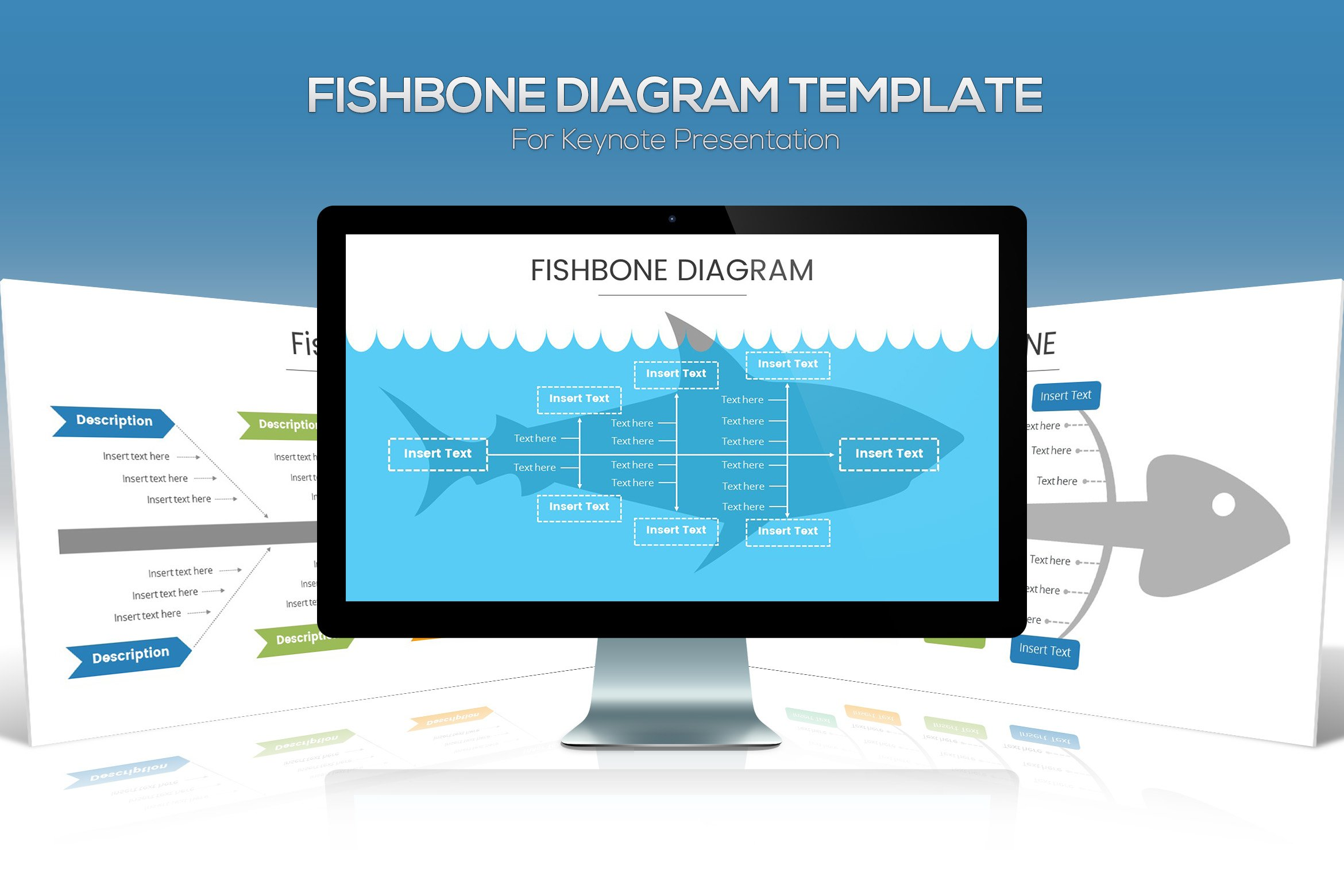 Fishbone diagram keynote template presentation templates fishbone diagram keynote template presentation templates creative market ccuart Choice Image