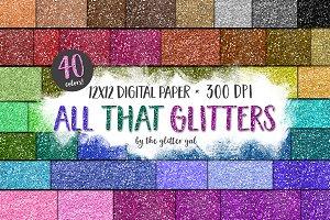 Mega Glitter Paper Pack Variety