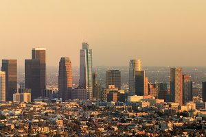 Los Angeles Panoramic Skyline Sunset