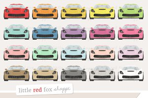 Sports Car Front Clipart
