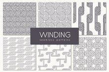 Winding Seamless Patterns. Set 1