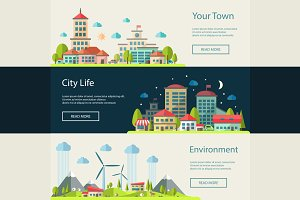 Buildings Infographics Banners 1