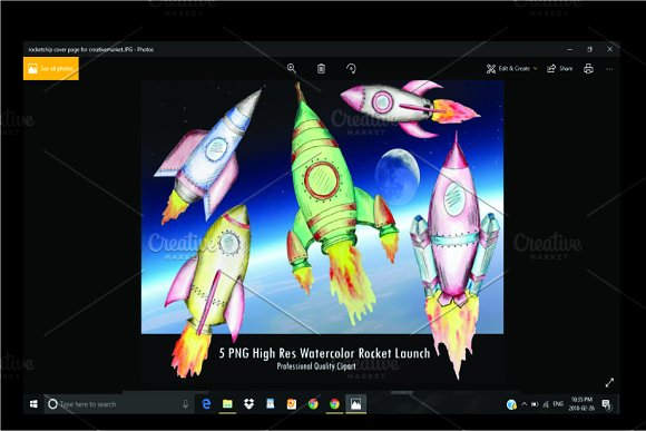 Watercolor Rocket Launcher