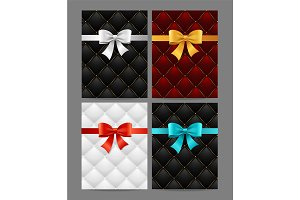 Card Bow And Quilted Background Set