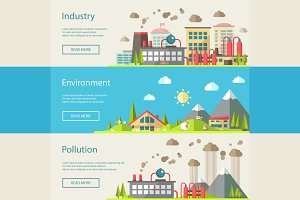 Buildings Infographics Banners 3