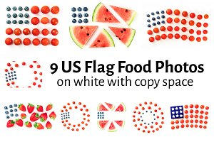 US Flag Food Photos