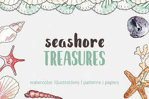 Seashore Treasure Illustration Pack