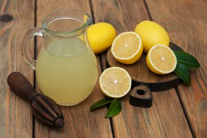Jar of lemon juice