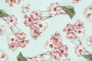 Pastel floral blossom pattern