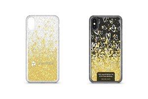 Apple iPhone X UV TPU Liquid Glitter
