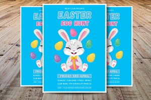 Easter Egg Hunt Party Flyer Template