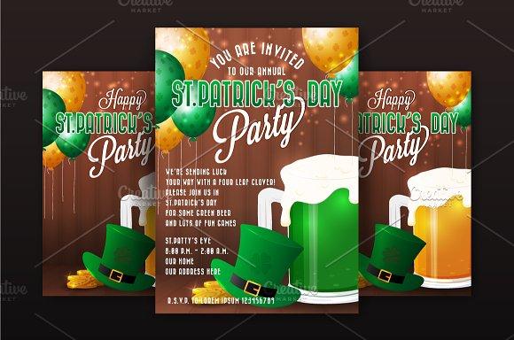 St Patrick Day Party Invitation