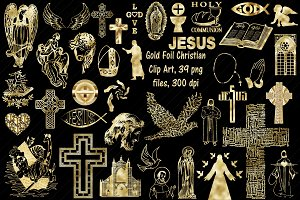 Gold Foil Christianity Clip Art
