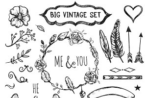 Invitation Hand Drawn Frame Elements
