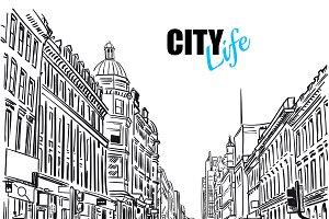 Sketch City Street