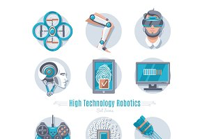 Hi-Tech Robotics Icon Set