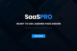 SaaS PRO - Startup Landing Page XD