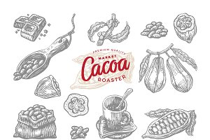 Engraving Cocoa Elements Set