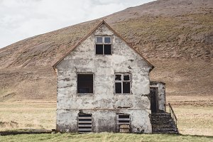 Abandoned House in Landscape