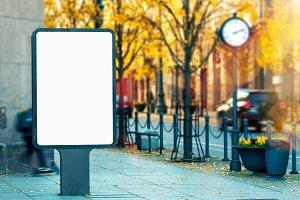 Blank outdoor billboard mockup