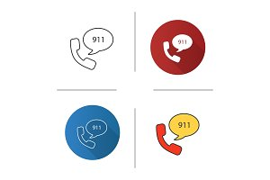 Emergency calling service icon