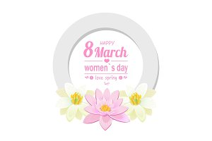 Greeting Card 8 March International Womens Day