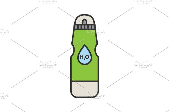 Sports Water Bottle Color Icon