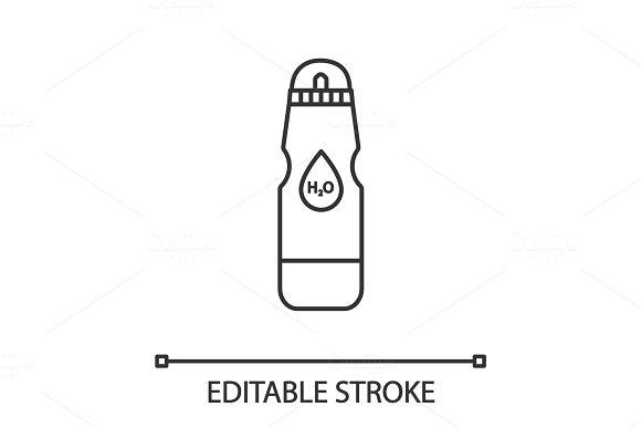 Sports Water Bottle Linear Icon