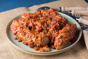 Sausages in tomato ragu sauce