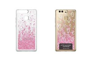Huawei P9 UV TPU Liquid Glitter Case