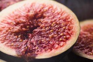 Half fig macro shot