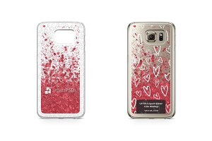 Galaxy S6 UV TPU Liquid Glitter Case
