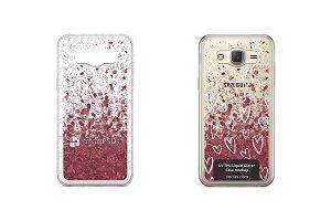 Galaxy J5 UV TPU Liquid Glitter Case