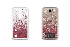 LG K10 UV TPU Liquid Glitter Case